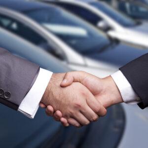 Car Salesperson Handshake